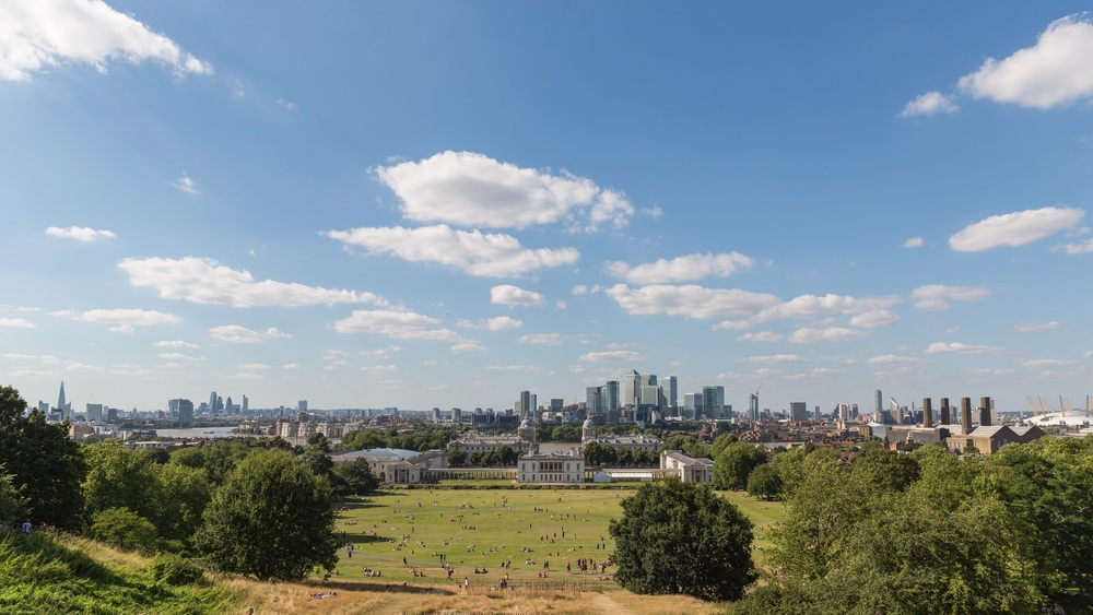 London view from Greenwich Park