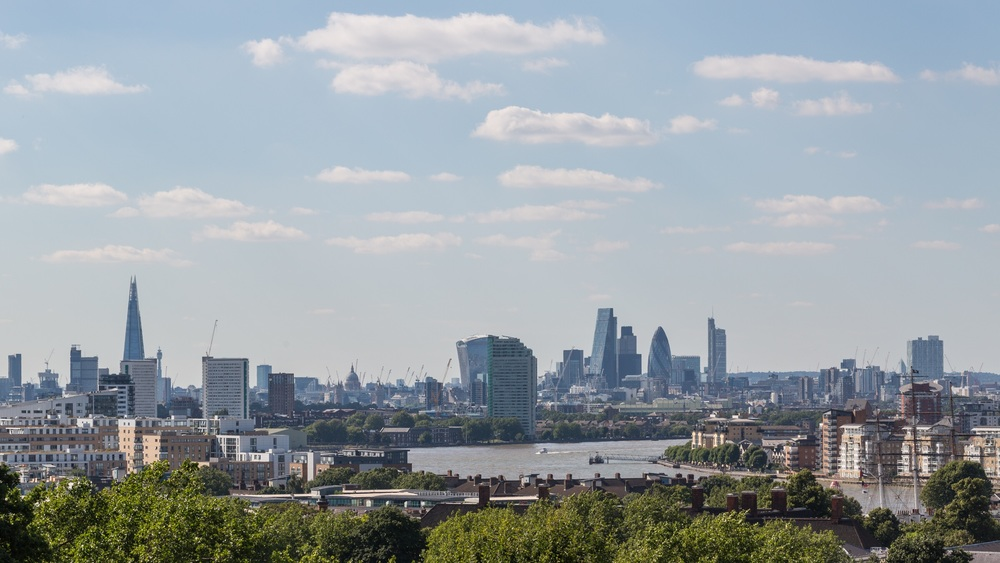 London skyscrapers, with St Paul's Cathedral nestled between them all