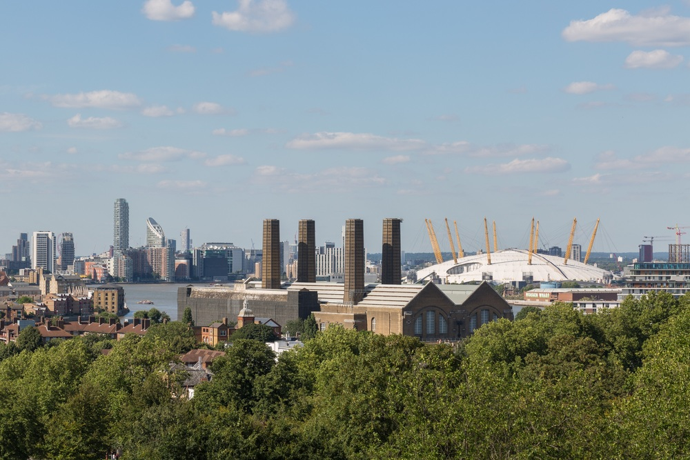Greenwich Power Station and the Millenium Dome (O2 Arena)