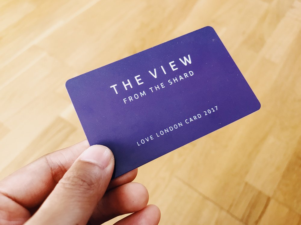 Only 2,017 lucky people are in possession of these cards, which allow unlimited access to the views from The Shard for just £20.17 for the year...
