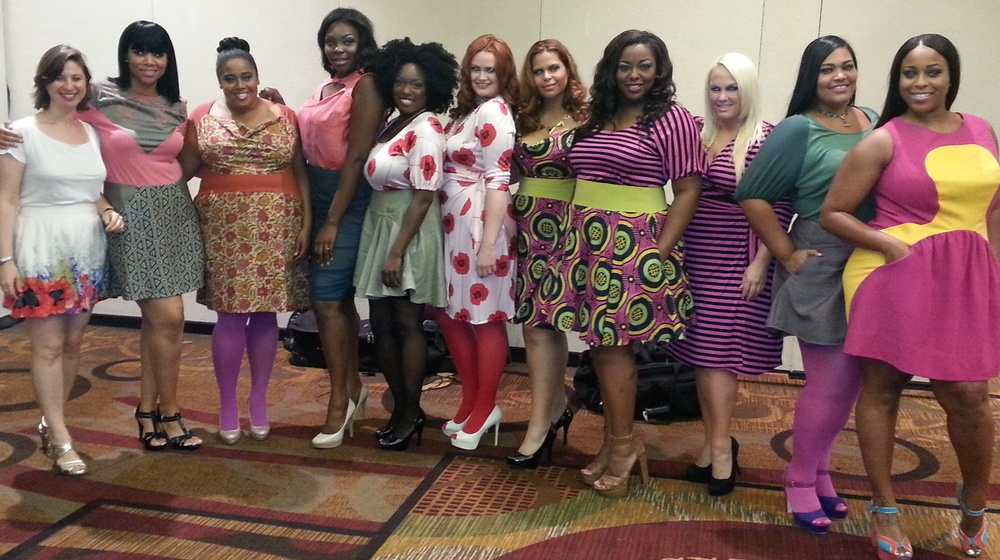 from left to right:  Annie Kaufman (designer,)  Erica Wright, Autumn Richardson, Brittnie Scurry, Ingrid Gray Rose, Jessica Likas, Vanessa Rosal, Samantha Lebbie, Michele Hilton, Vanessa Mays, Aliyah Cherisse