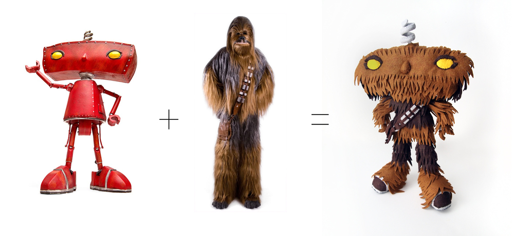 """Bad Wookiee"" is a fine art mix of the Bad Robot and Chewbacca."