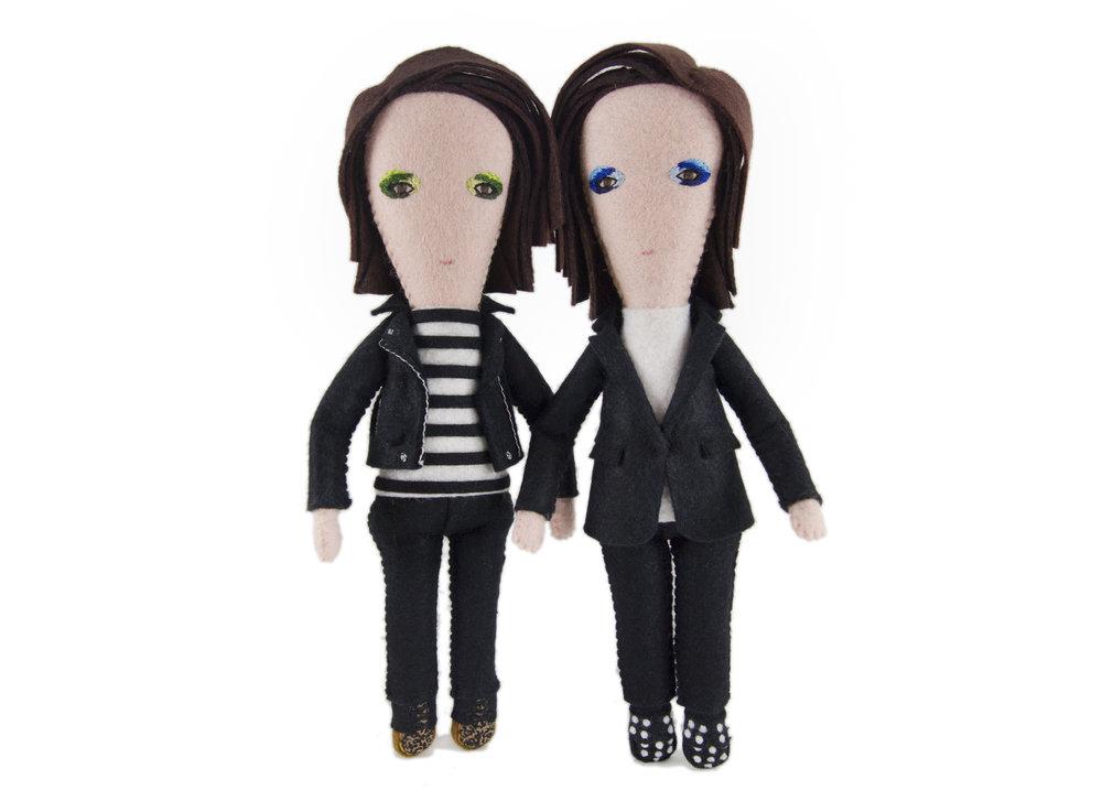 Tegan & Sara fine art doll puppets