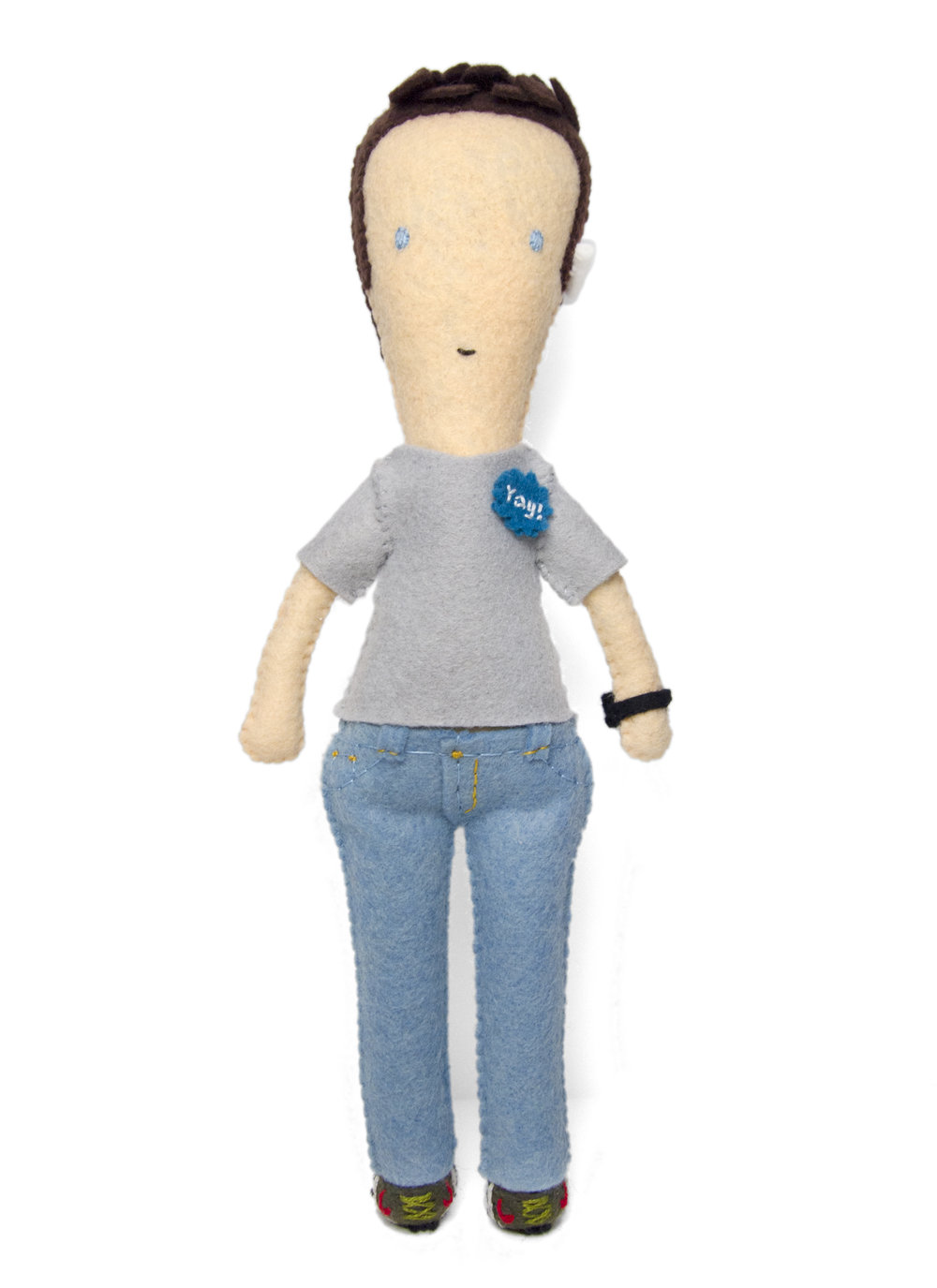 MOO Inc. employee appreciation personalized doll portrait.