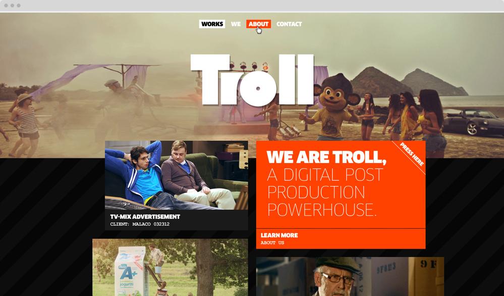 Troll / visuaalinen suunnittelu, rakennesuunnittelu