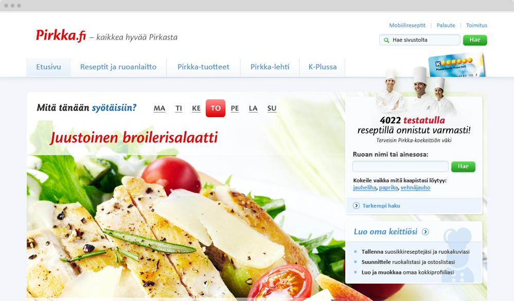 Pirkka.fi / graafinen suunnittelu