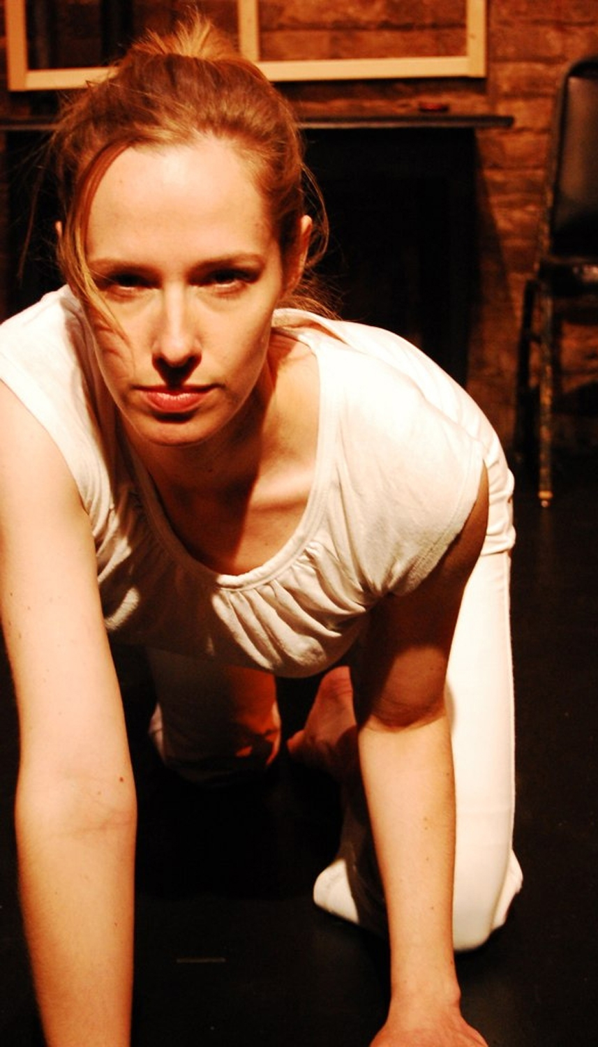 """Maura Halloran in """"Pussy."""" (Photo Credit: Claire Rice)"""