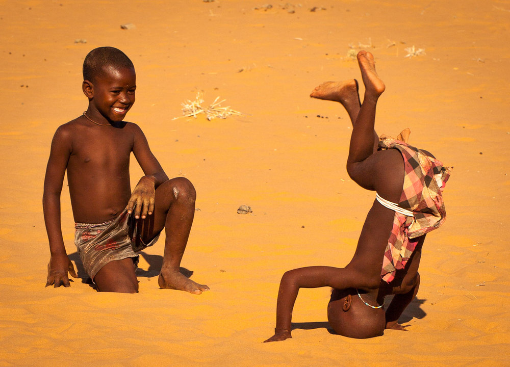 Himba Boys Playing in Sand 1