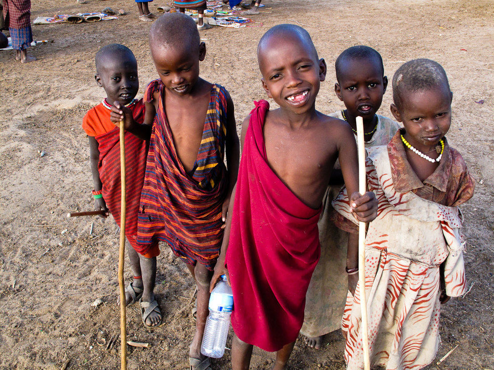 Massai Village Children