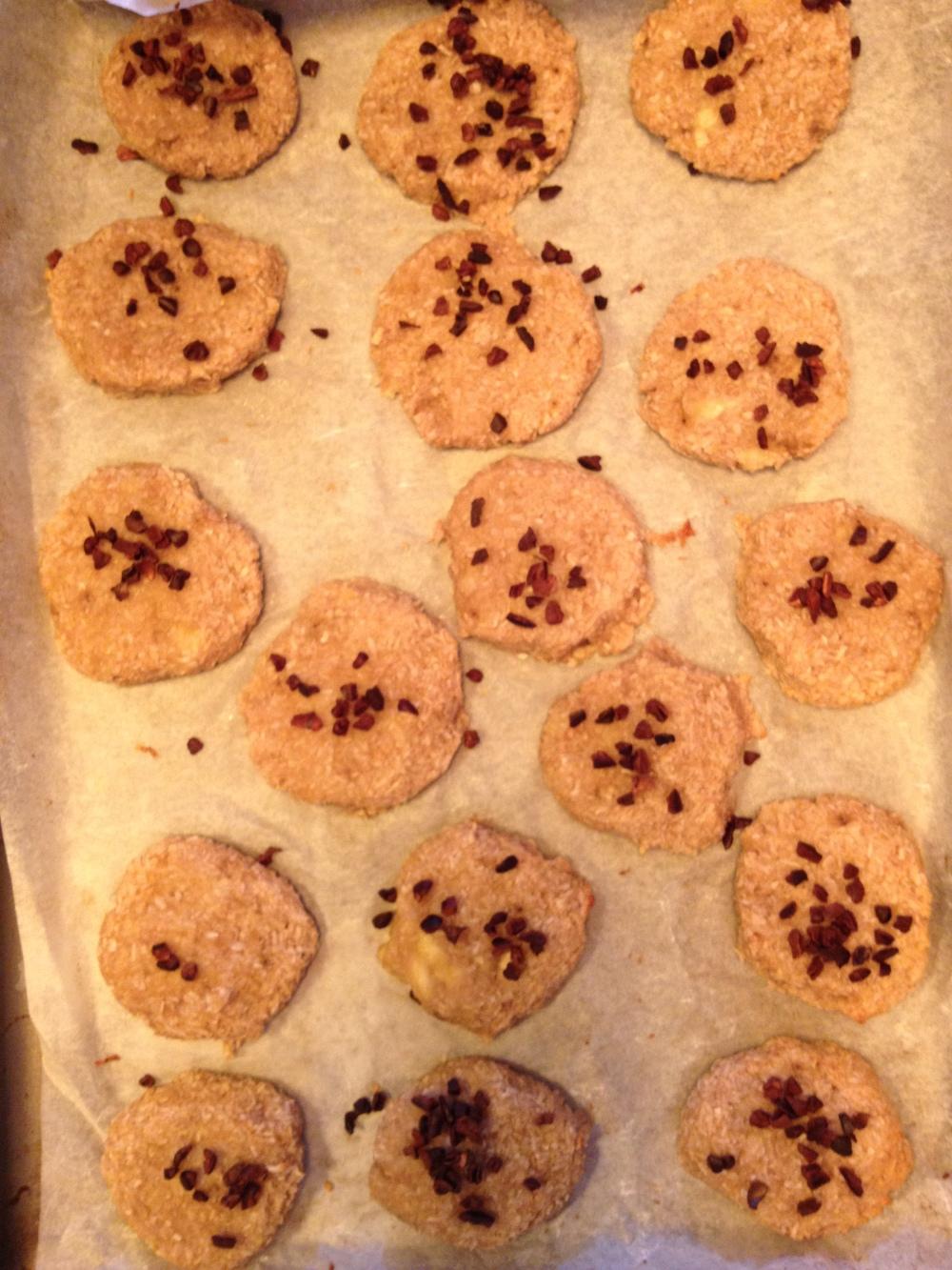 Banana coconut biscuitss