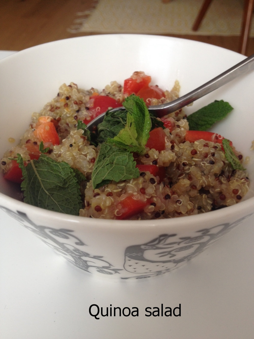 Quick quinoa salad