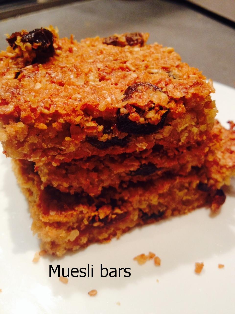 Healthier muesli bars