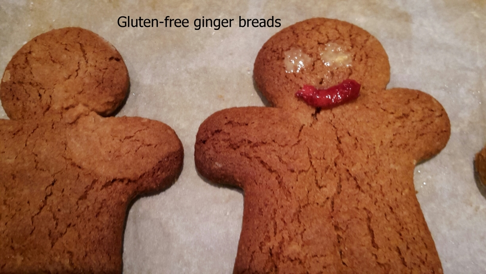 Wheat-free gingerbreads