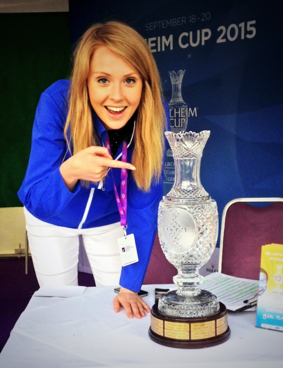...I even managed to have my own moment with one very special trophy #SolheimCup