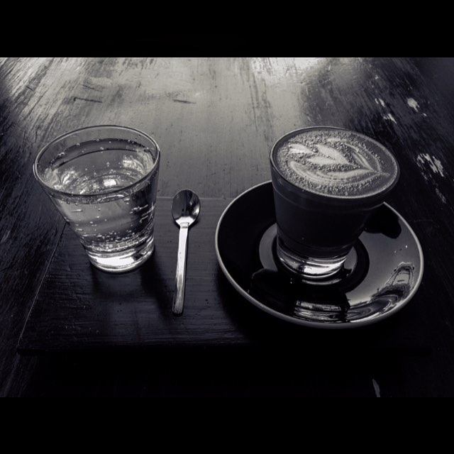 Exploring new place step one: find hipster coffee joint.