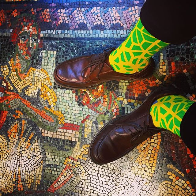 Just some art on art on art. #LYFsocks #LoveYourFeet #socks #fashion #art