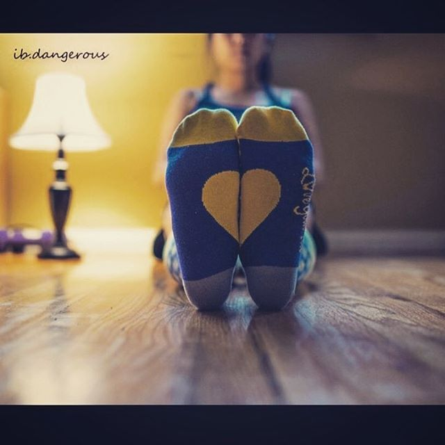 Throwback to another classic photo from @ib.dangerous showing off the signature 💛 on her LYF socks.  Never be afraid to show the world that you #LoveYourFeet 😍 #LYFsocks #socks #heart #love