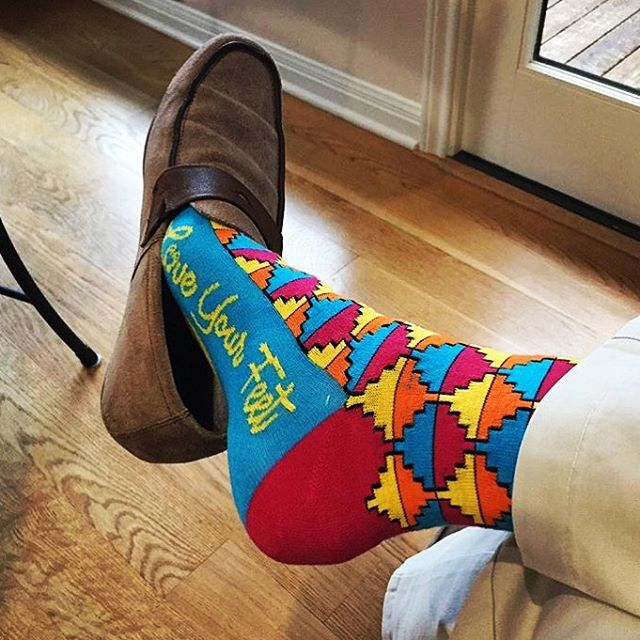 A big thank you to @tylerh1981 for showing off his #LoveYourFeet socks!  Looking good Tyler 👌 #LYFsocks #socks