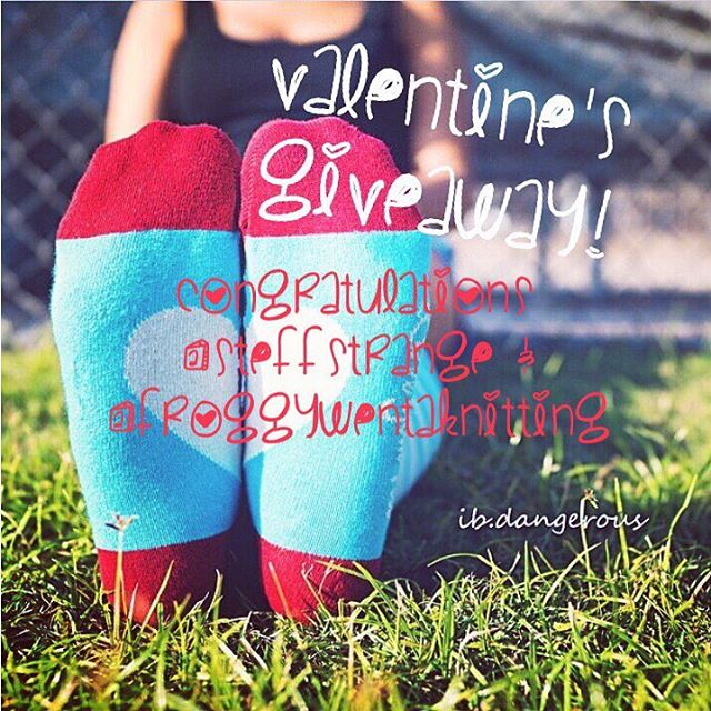 Congratulations to @steffstrange and @froggywentaknitting for wining our Valentine's giveaway!  We've got some sweet treats for those lucky feet coming your way 👏 #LYFsocks #LoveYourFeet #socks