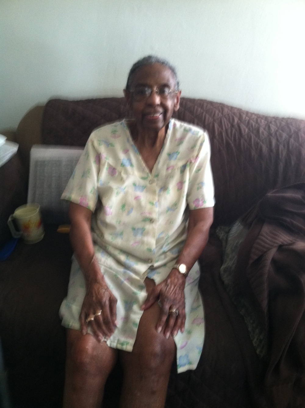 "Eva Mae Smith, 93, was shocked to hear about the killing of her neighbor, ""wonderful Mr. Johnson""."
