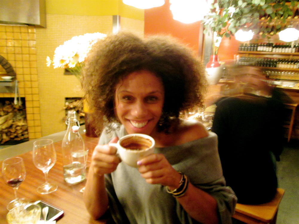 Princess of Sierra Leone savors Hot Chocolate