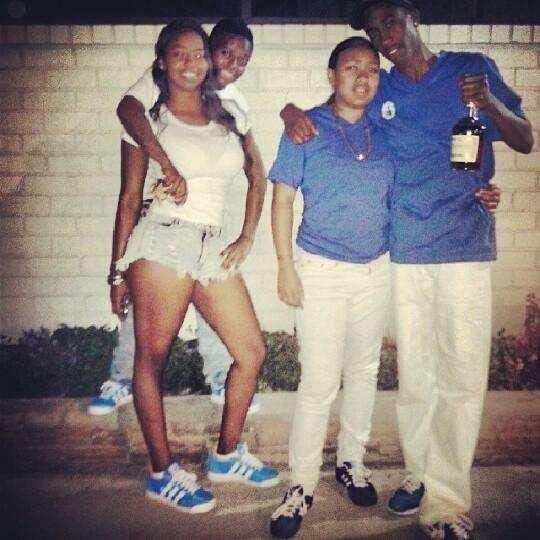 Couple on right, Aveion Bolden, 20, and Jacinta Walker, 18, were shot to death Friday night on Figueroa and 87th