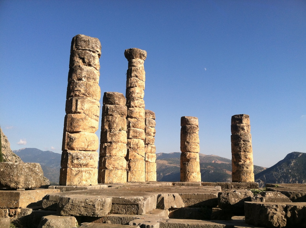 The Sun God's Temple in Delphi, Greece