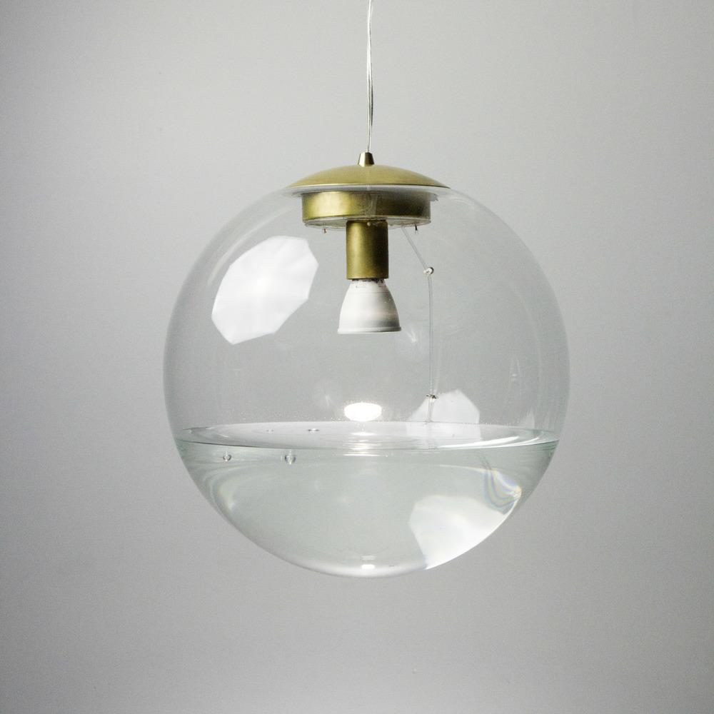 """16"""" Clear Rain Lamp - Brass"""