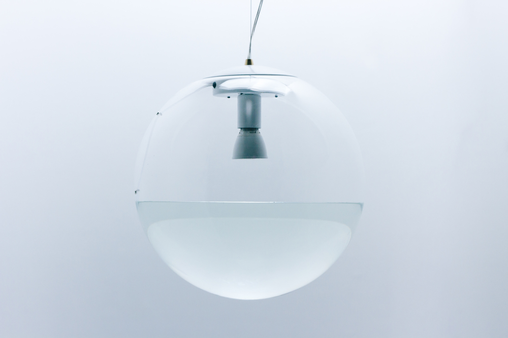 "16"" Clear Rain Lamp - White"