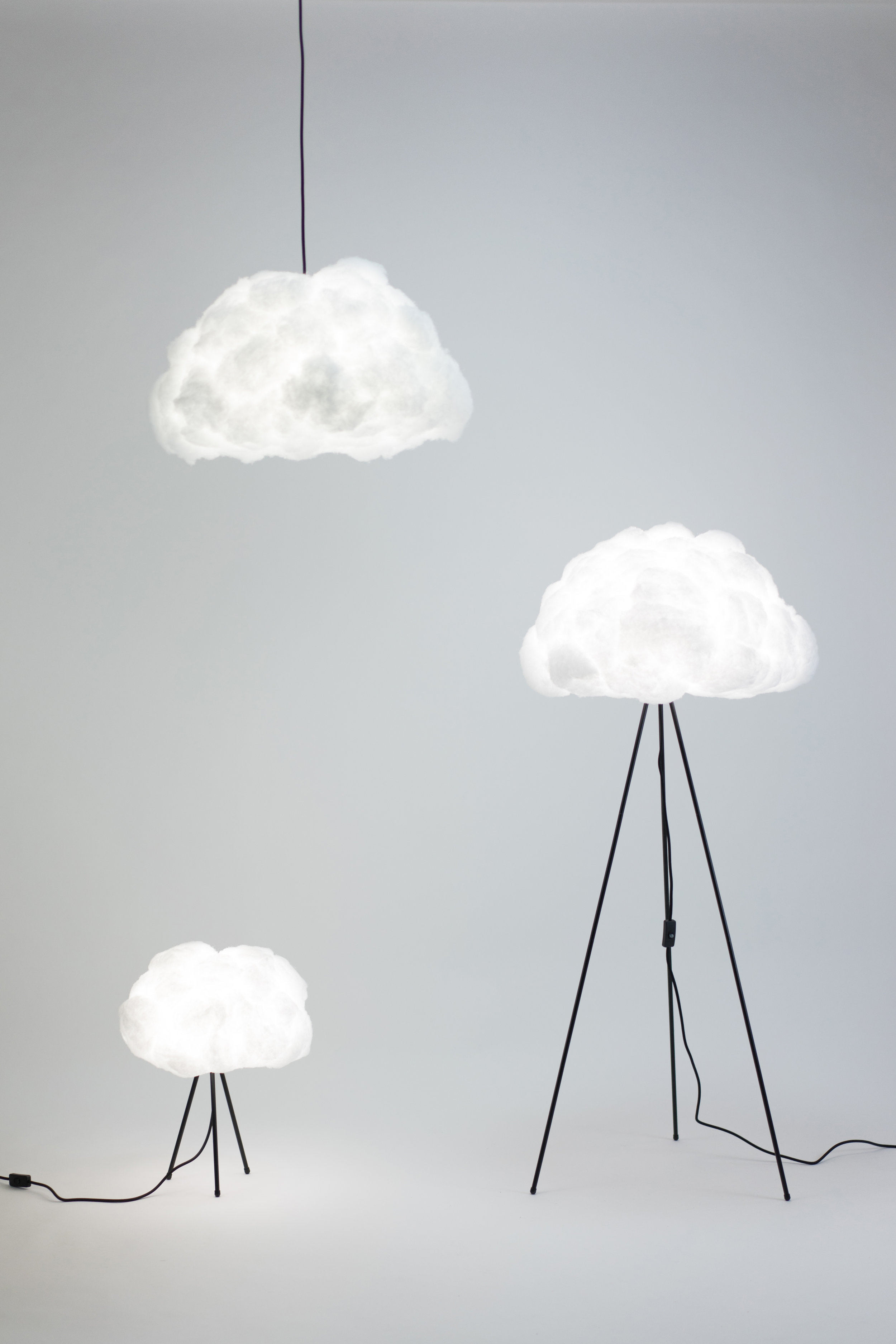 jun 9 lighting clouds lamp shade with bulb richard clarkson comment - Cloud Lamp Diy