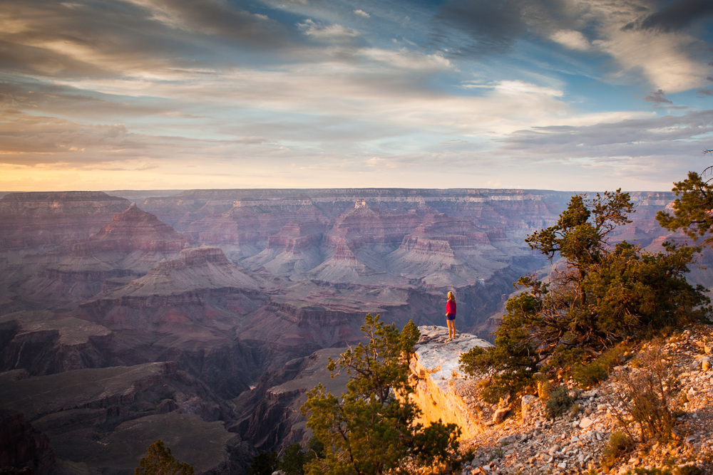 The Photographer takes her turn in front of the camera - South Rim, Grand Canyon