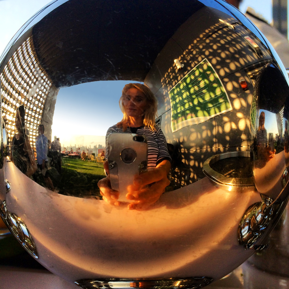 Fun Selfie at the Standard Rooftop bar in New York City, June 2014