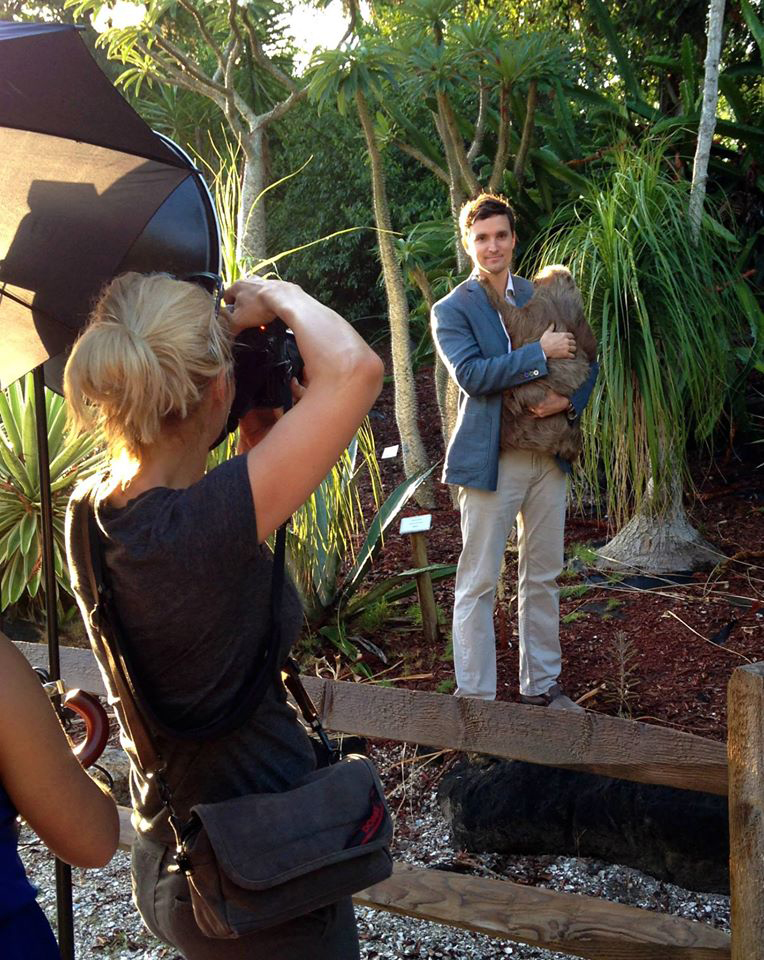 Behind the scenes of the Naples SuperMen 2014 Shoot  at the Naples Zoo