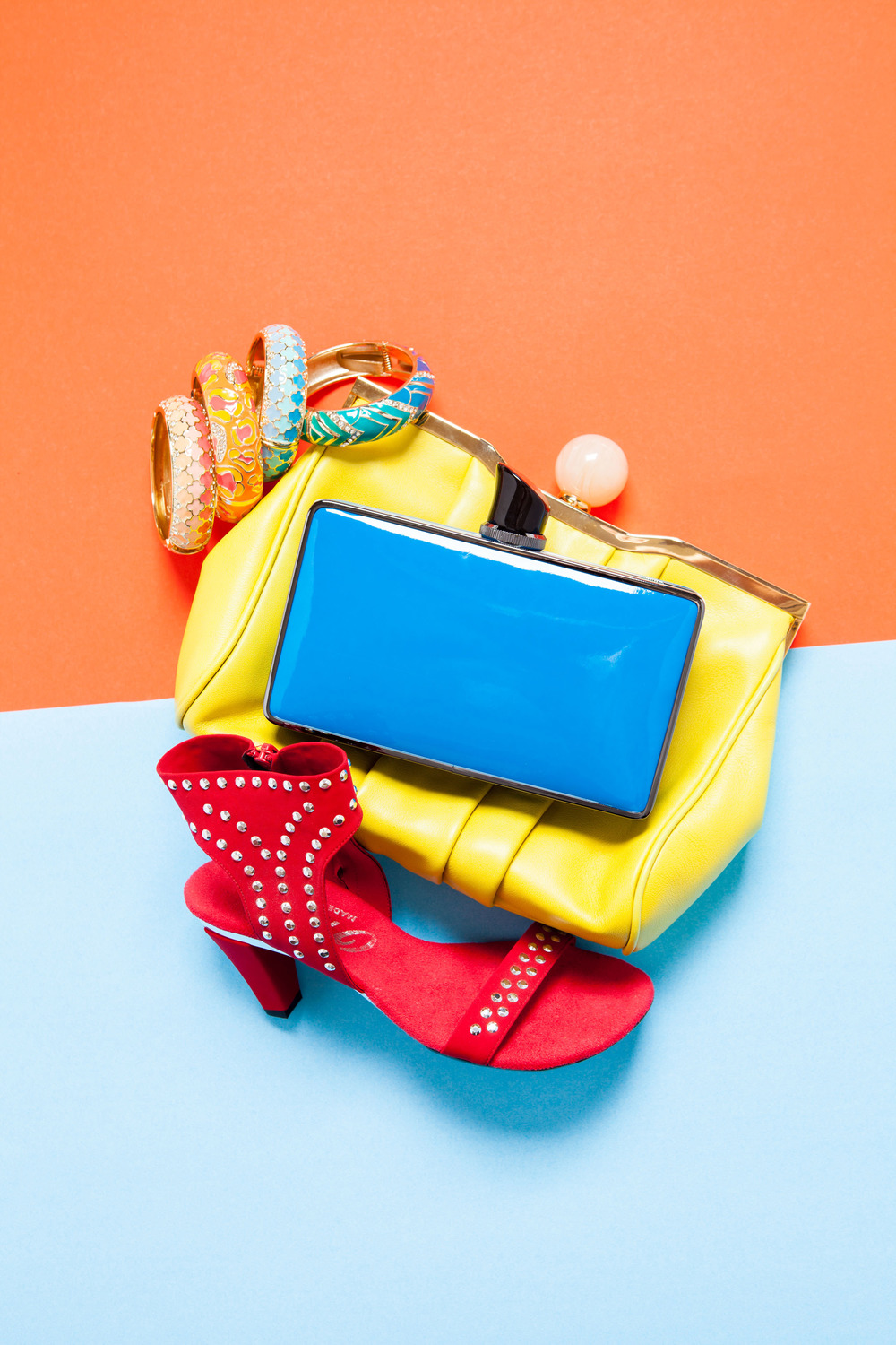 color_block_editorial_yellow_purse_naples_illustrated_by_vanessa_rogers_photography