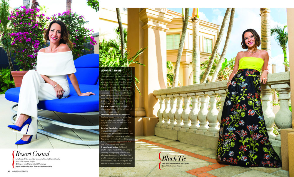 Jennifer Parisi  shot on location at the Ritz Carlton Naples Beach Resort for the March 2018 Issue of Naples Illustrated Magazine.