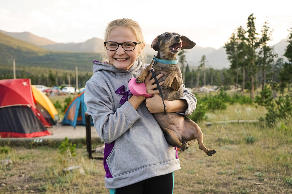 Haley and Izzy. Rogers Family Reunion. Rocky Mountain National Park 2018