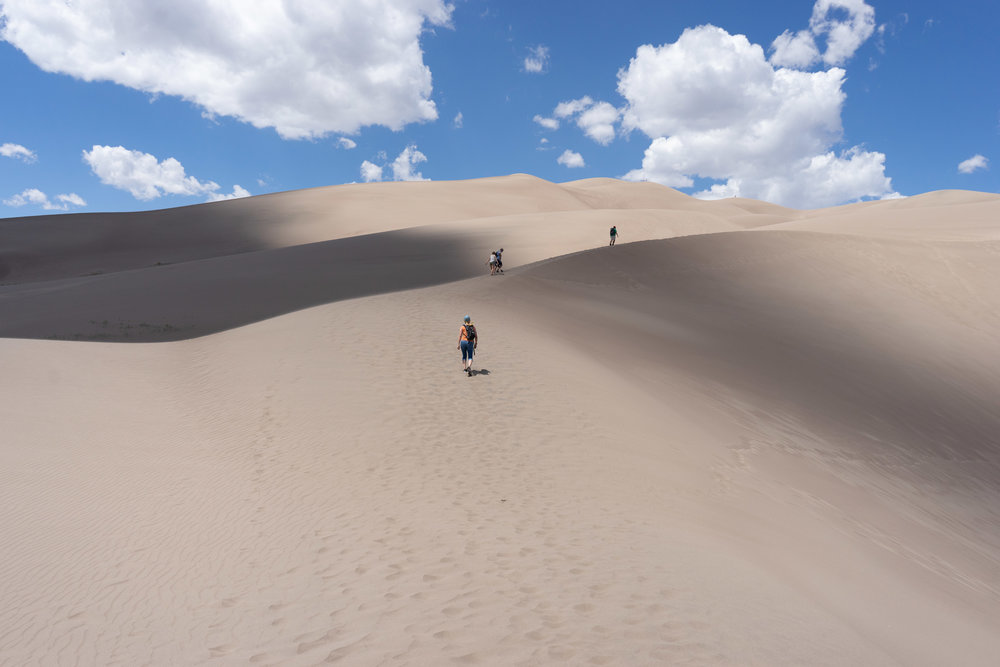 Hiking the Great Sand Dunes. The Great Sand Dunes National Park 2018