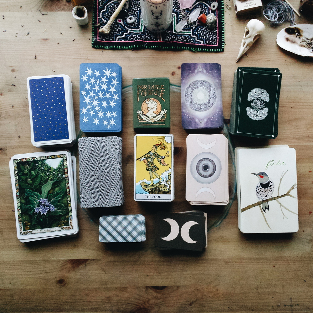 tarot deck collection