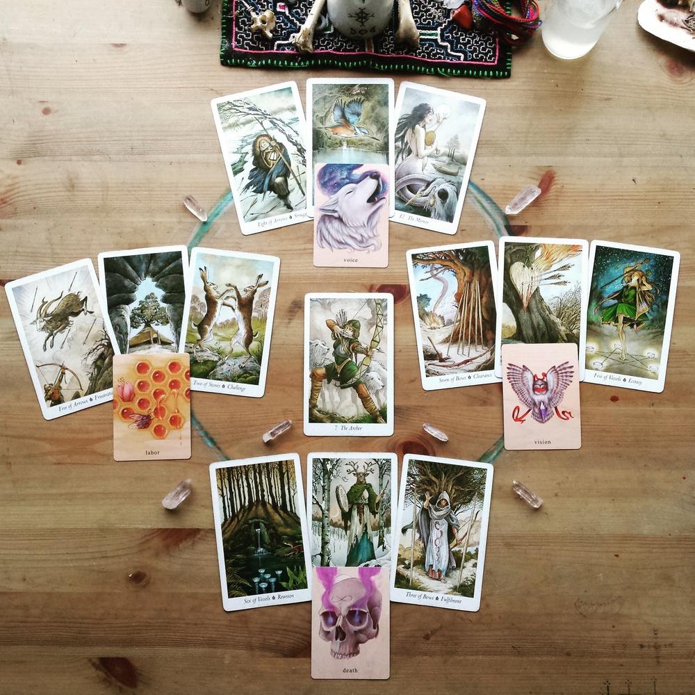 samhain tarot spread wildwood