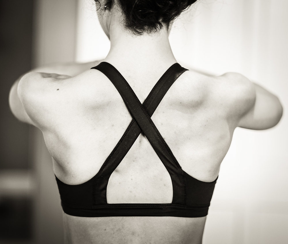 Instructor Erin's beautifully strong back photographed by Ryan Wilson