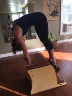 """The Pull Up- the """"up"""" part. Waaaay harder than it looks. You have to float that 'step' (the pedal part)up using your abs!"""