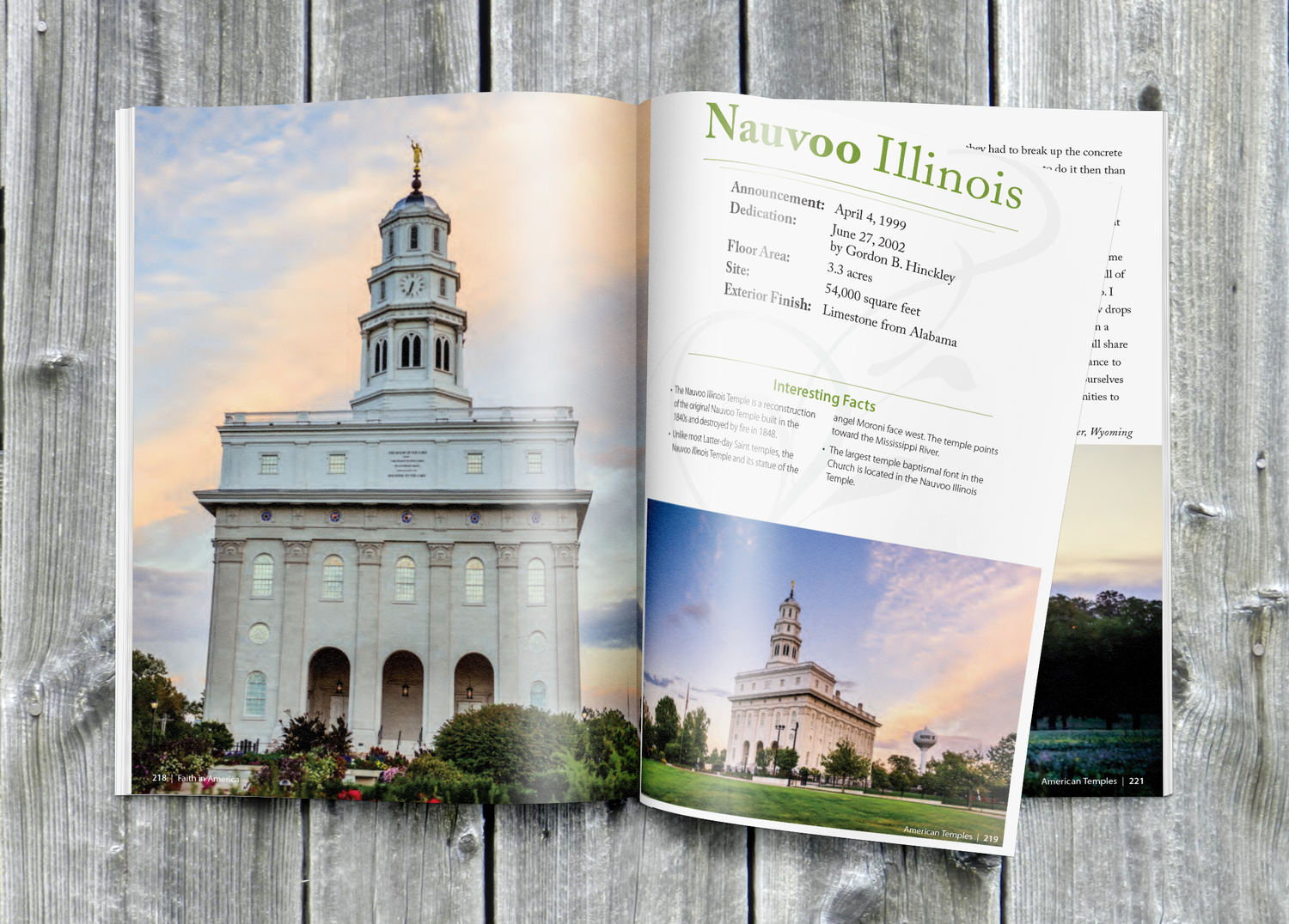 Nauvoo Illinois Temple from American Temples book by Scott jarvie