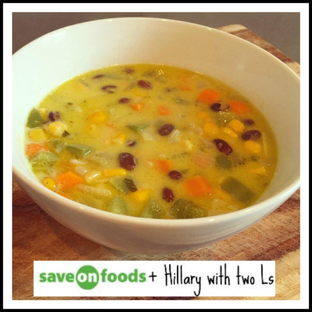 Coconut Black Bean Soup || Hillarywith2Ls
