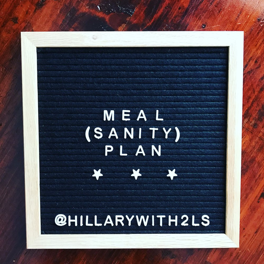 {Follow along on Instagram @hillarywith2Ls to see if I manage to stick with my plan. #dinnerwith2Ls}