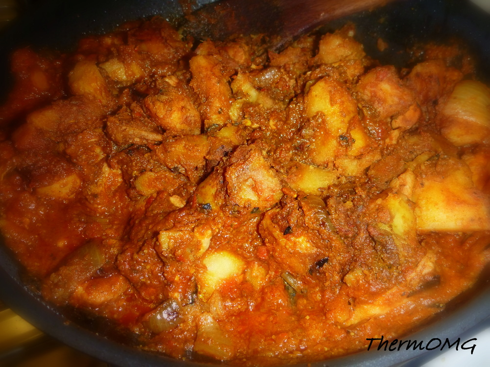 vindaloo spiced chicken thighs with coconut tomato stew source abuse ...