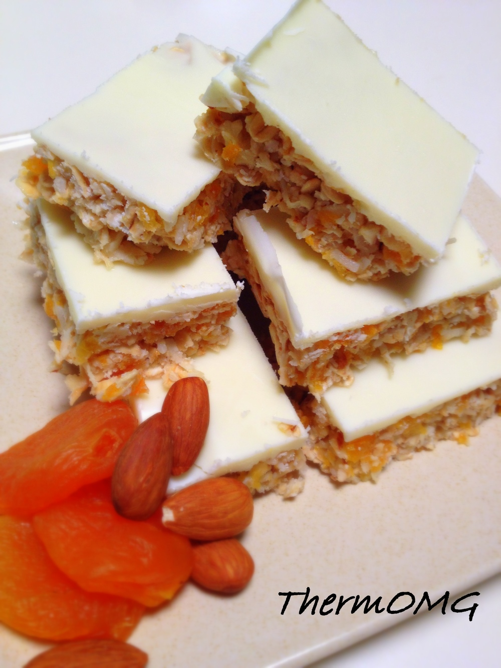 Apricot Almond and Coconut Slice