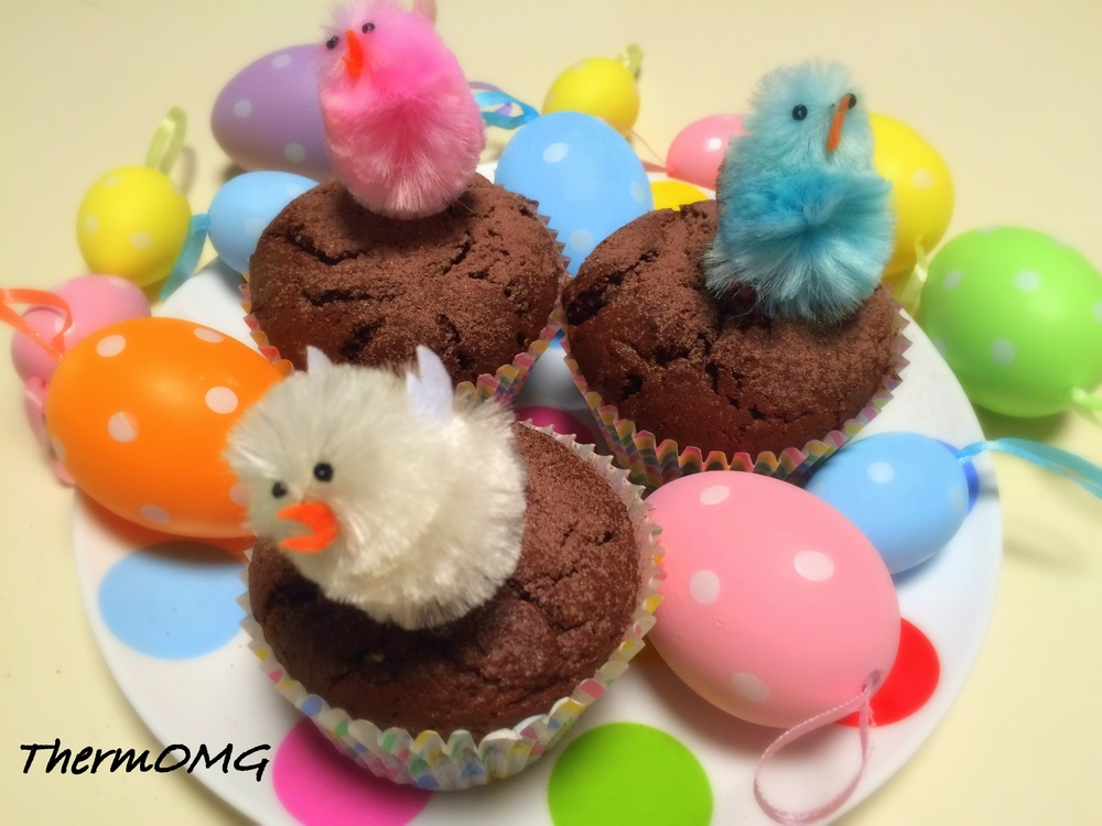 Triple Choc Easter Muffins