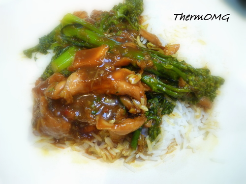 Sticky Ginger Chicken with Broccolini