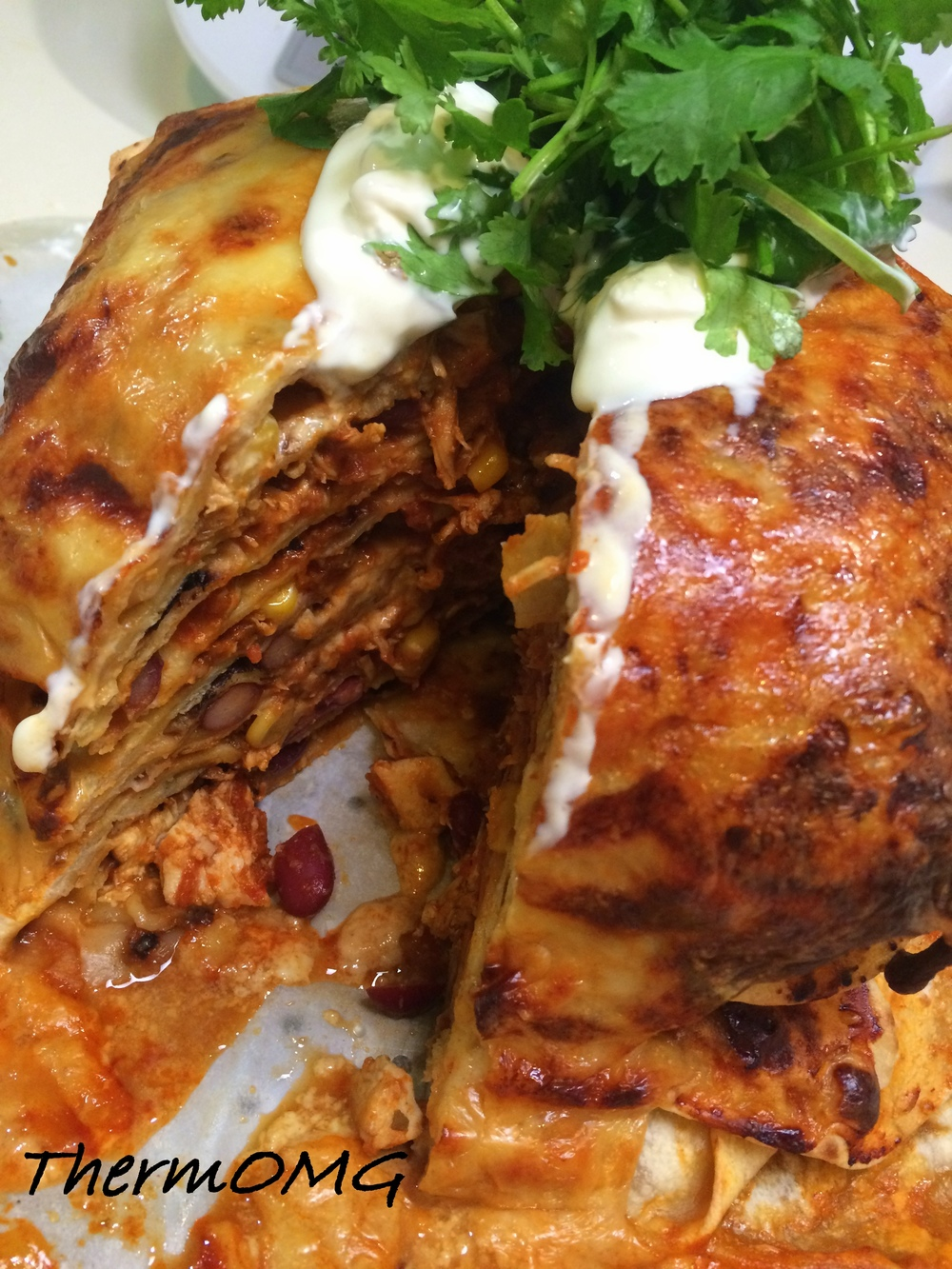 Mexican Chicken Stack