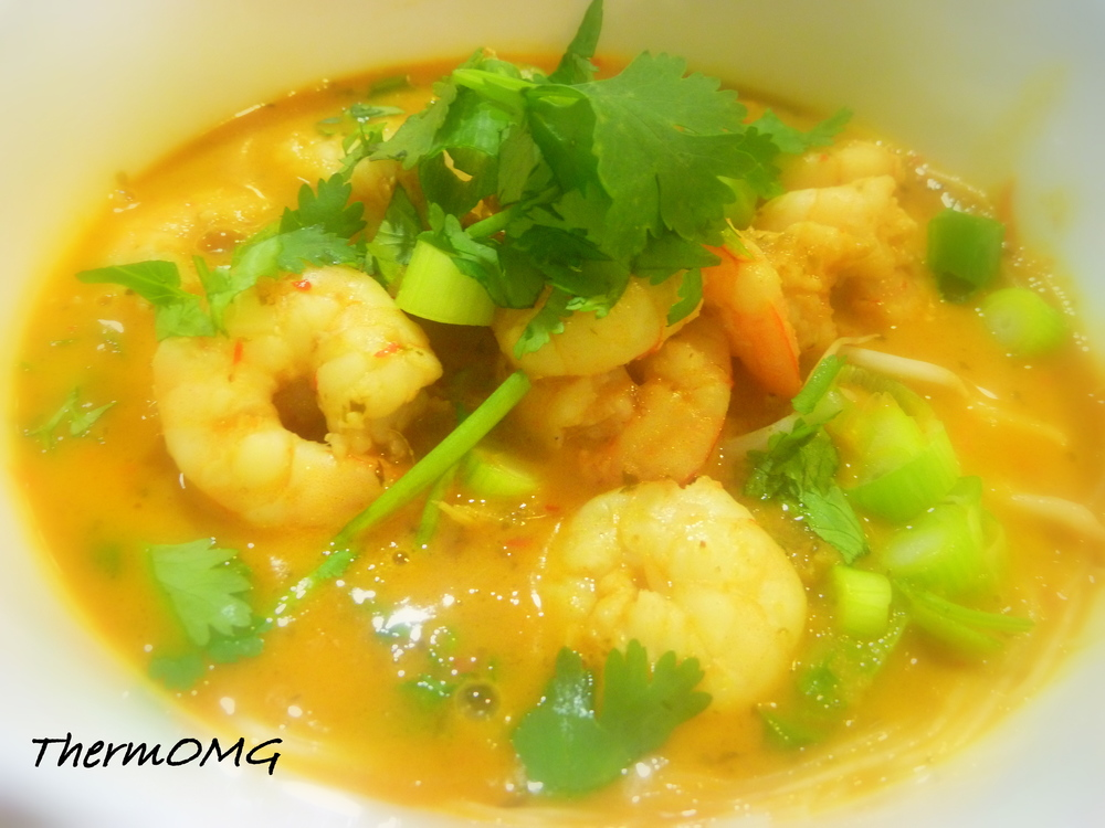 Thai Coconut Prawn and Noodle Soup